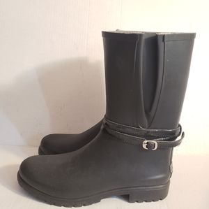 Sperry Shorebird Rain Boots in Black